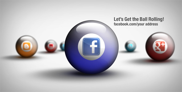 After Effects Project - VideoHive Social Media Balls 2311785