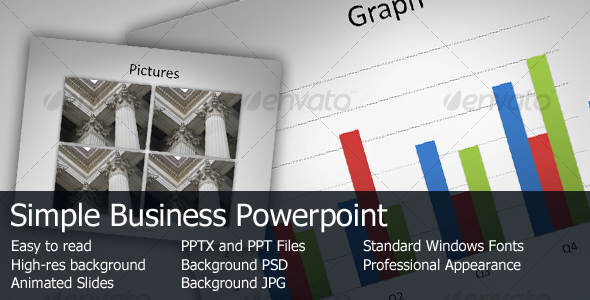 GraphicRiver Simple Business Powerpoint 85909