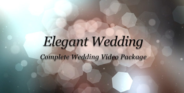 After Effects Project - VideoHive Elegant Wedding Package 2311864