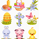 Easter icons - GraphicRiver Item for Sale