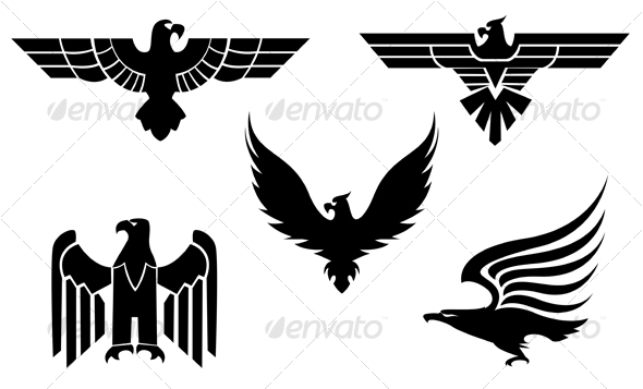 Eagle symbols 3 - Tattoos VectorsWhite Power Tattoo Designs
