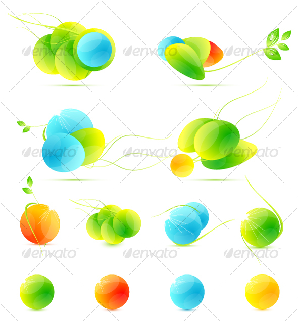 Abstract summer icons - Seasonal Icons