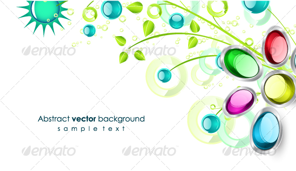 Floral corner design - Backgrounds Decorative