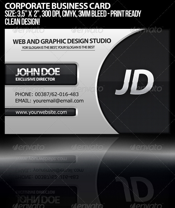 GraphicRiver Corporate Business Card 262504