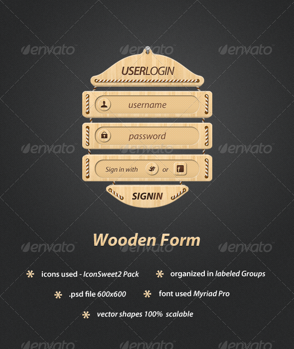 Wooden Webform - Forms Web Elements