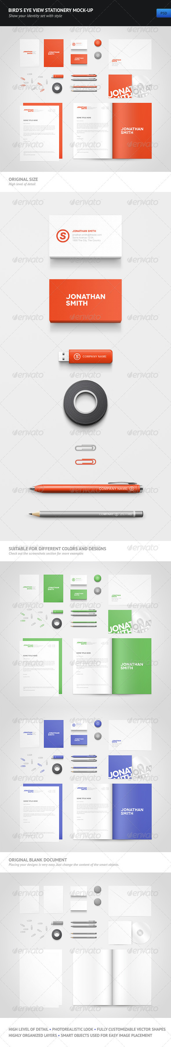 Bird's Eye View Stationery Mock-up - Stationery Print