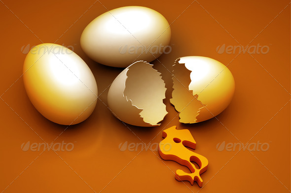 Egg and dollar - Stock Photo - Images