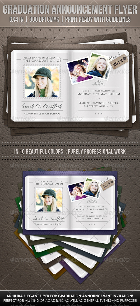 GraphicRiver Graduation Announcement Flyer 2316766