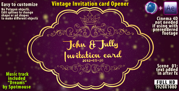 VideoHive Vintage Invitation Card 2255013