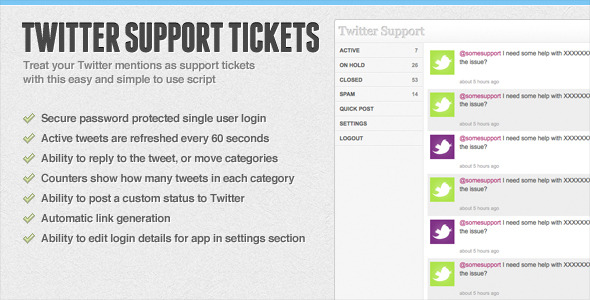CodeCanyon Twitter Support Tickets 95597