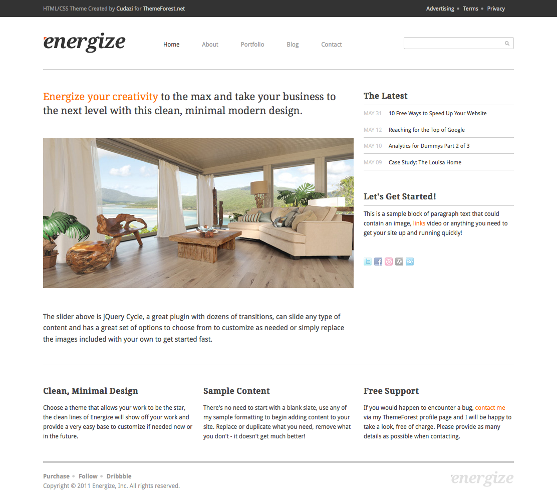 Energize - Clean Creative Portfolio