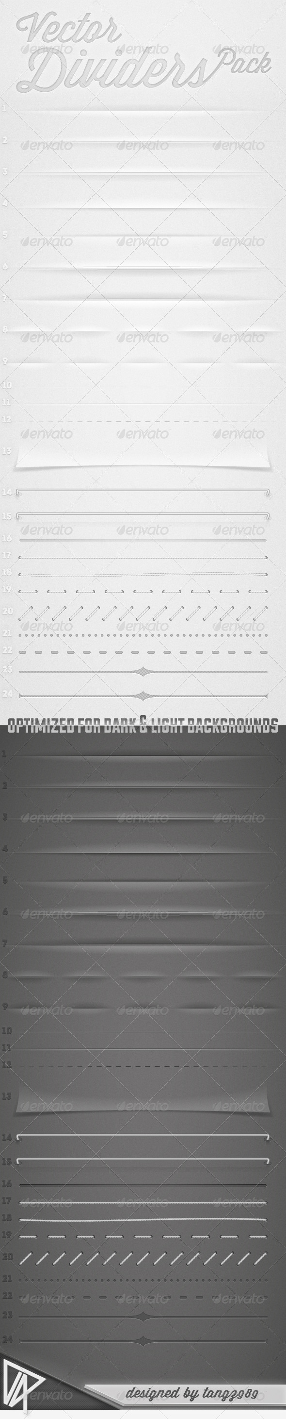 GraphicRiver Vector Dividers Pack 2279119
