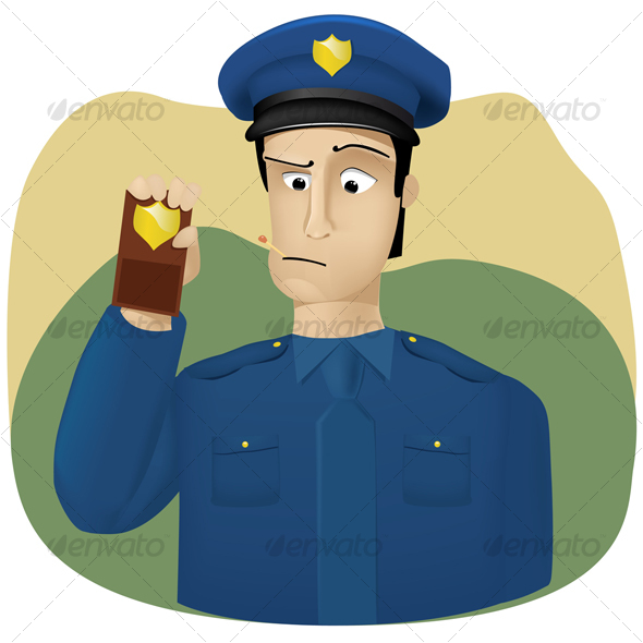 GraphicRiver Policeman shows his badge 86185