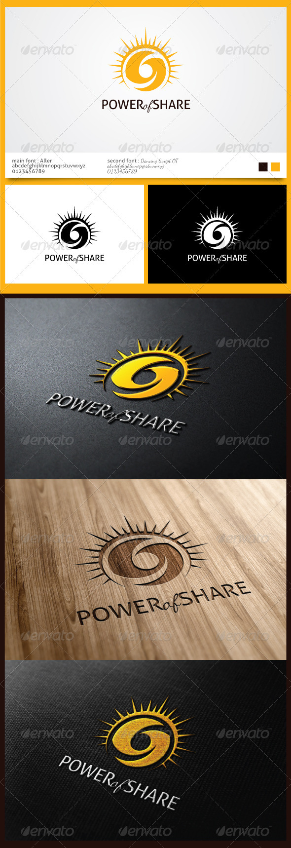 Power of Sharing Logo - Logo Templates