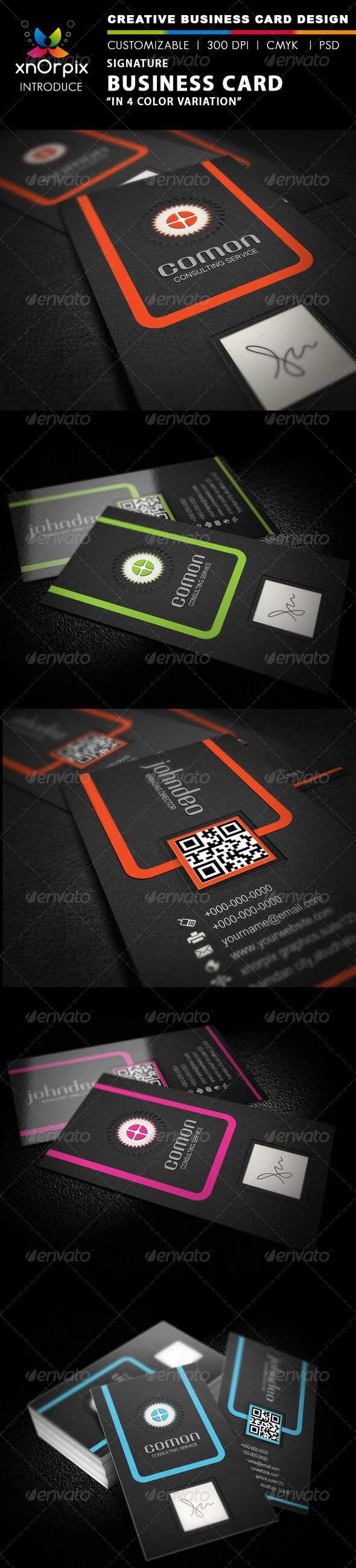 GraphicRiver Signature Business Card 2320305