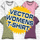Womens T-Shirt Vector Mock-Ups - Template