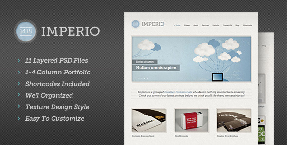ThemeForest 1418 Imperio Modern PSD Template 1555070