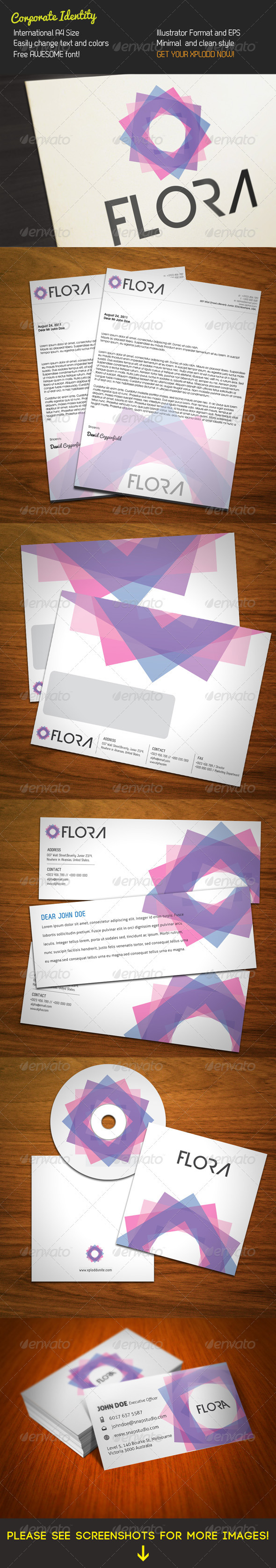 GraphicRiver Flora Stationery 262895