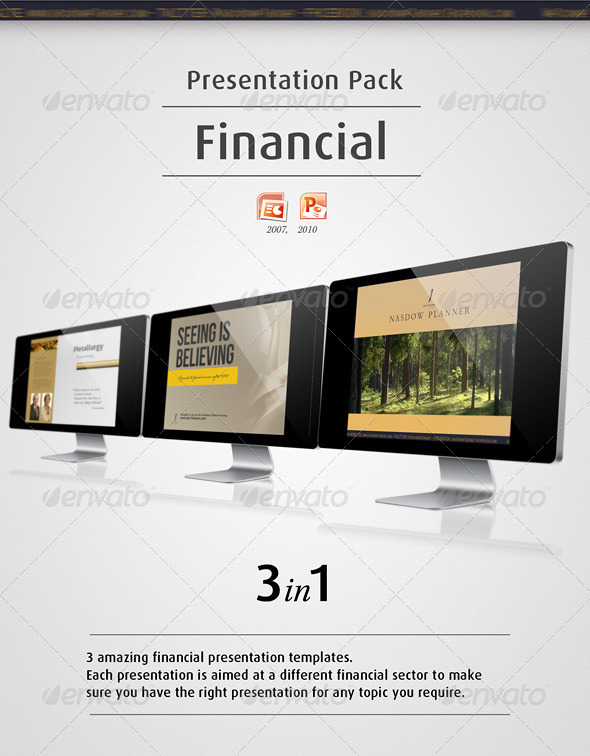 Presentation Pack - Financial - Finance Powerpoint Templates