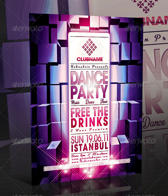 GraphicRiver Dance Party Flyer 262925