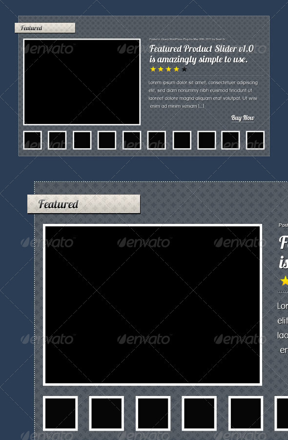 Graphic River Featured Slider Web Elements -  Sliders & Features 258105