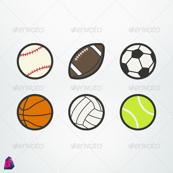 GraphicRiver Sports Balls 2320850