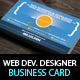 Creative Web Designer/Developer Business Card - GraphicRiver Item for Sale
