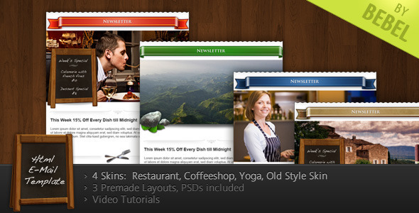 Stella - Newsletter for Restaurants, Cafes, Yoga  - Email Templates Marketing