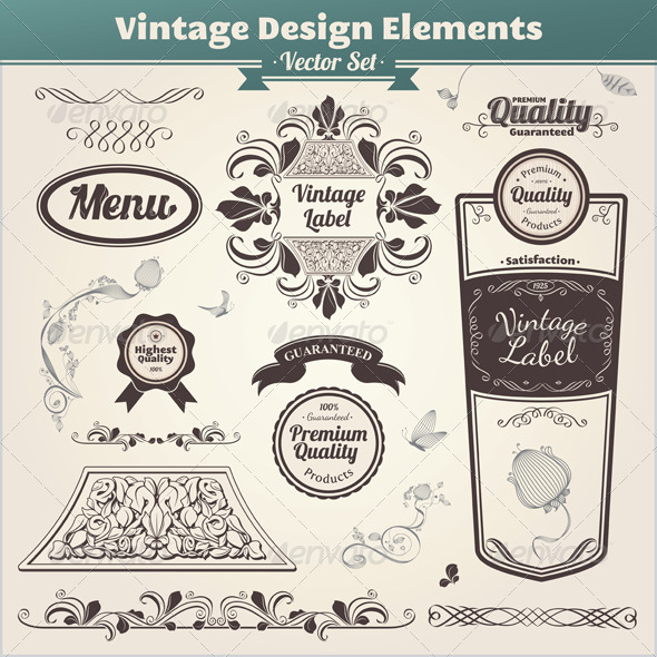 Vintage Design Elements - Decorative Symbols Decorative