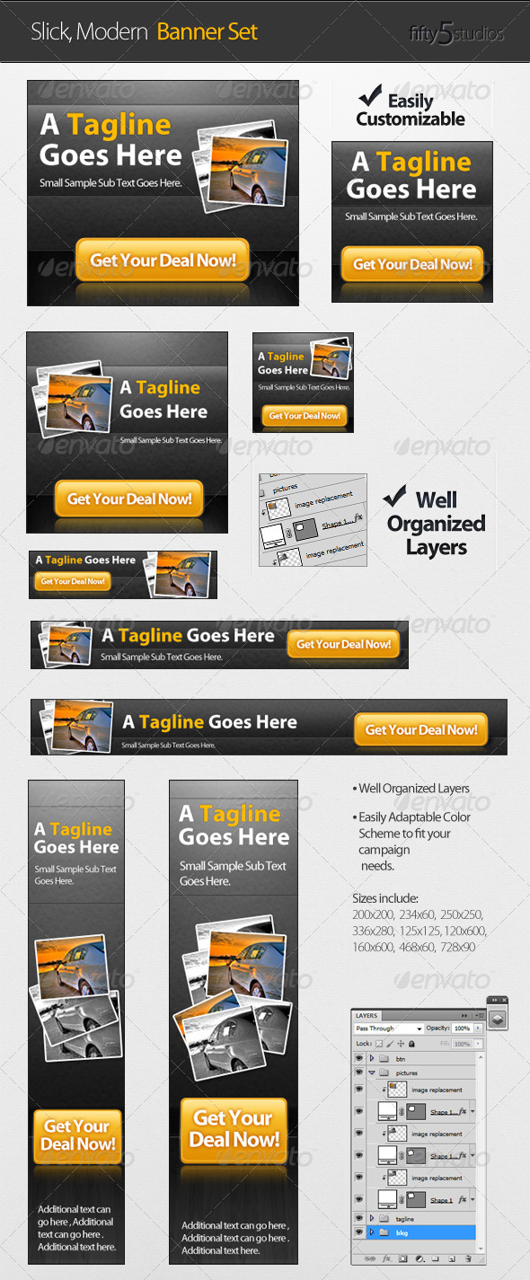 GraphicRiver A Slick Modern Banner Set 263108