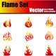 Vector Flame Set - GraphicRiver Item for Sale