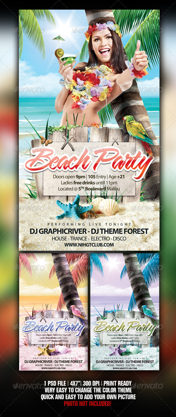 Tropical Beach Party  - Clubs & Parties Events