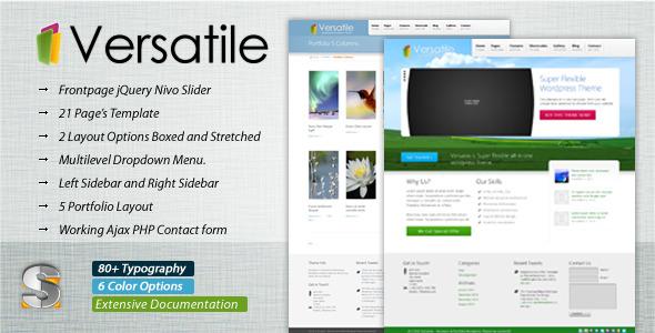 Versatile - Premium Corporate & Portfolio Template