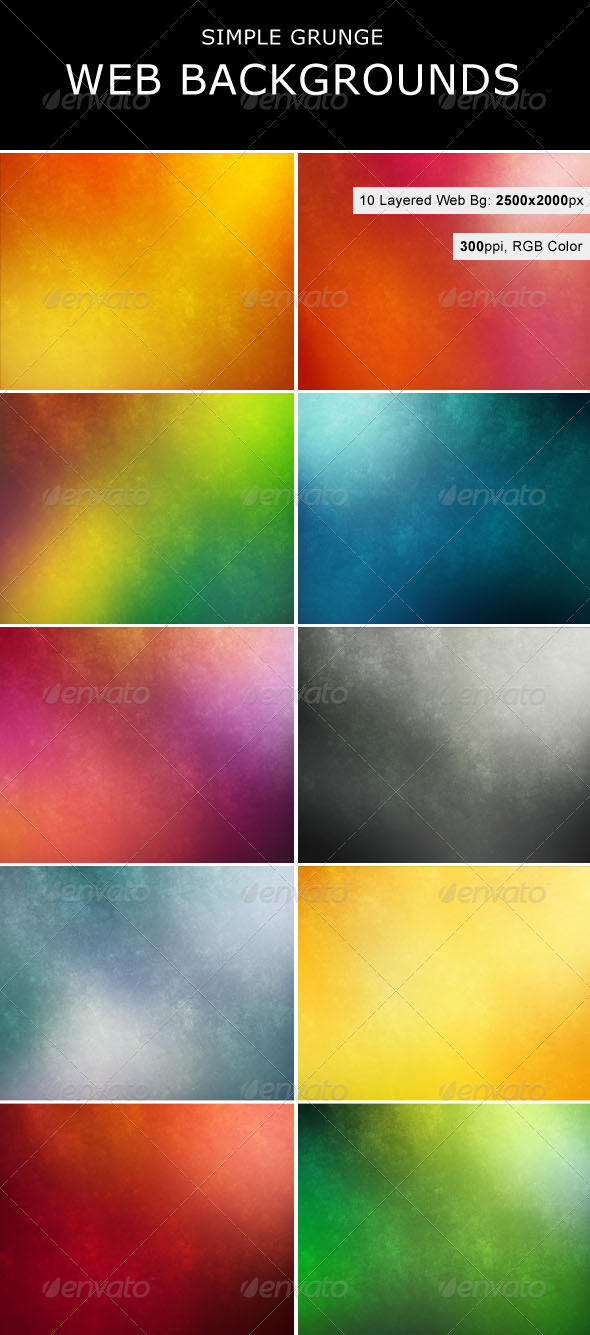 Simple Grunge Backgrounds - Backgrounds Graphics