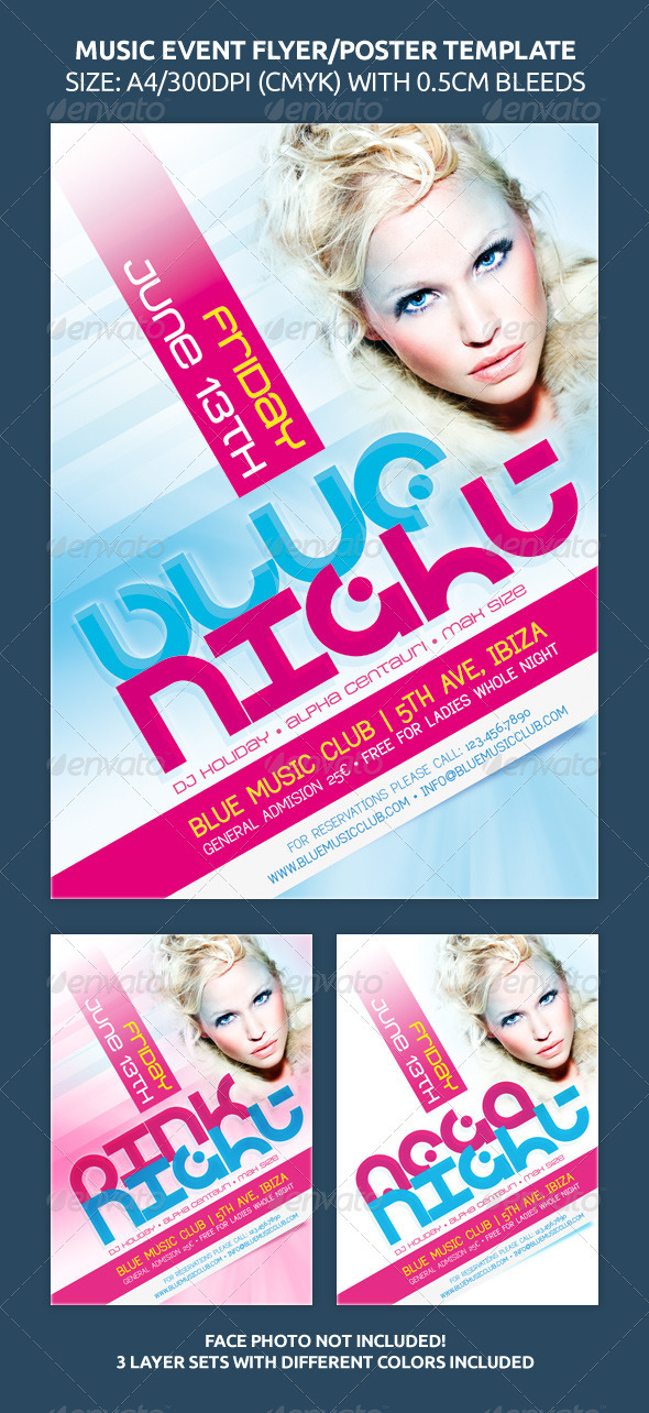 Music Event Flyer Poster Template
