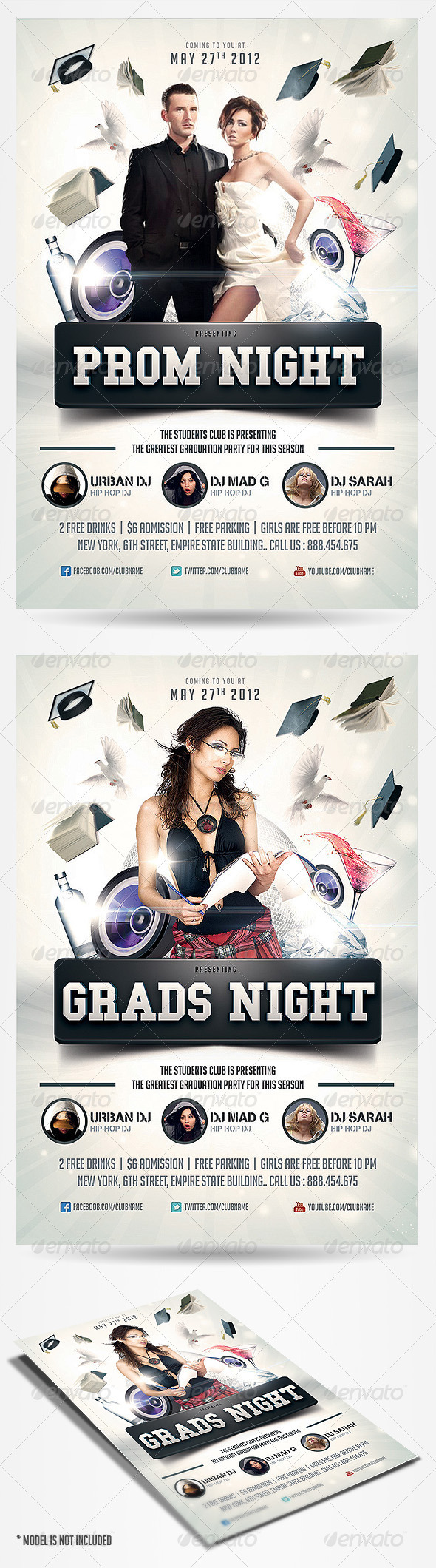 Graphic River Graduation Prom Flyer Print Templates -  Flyers 2309585