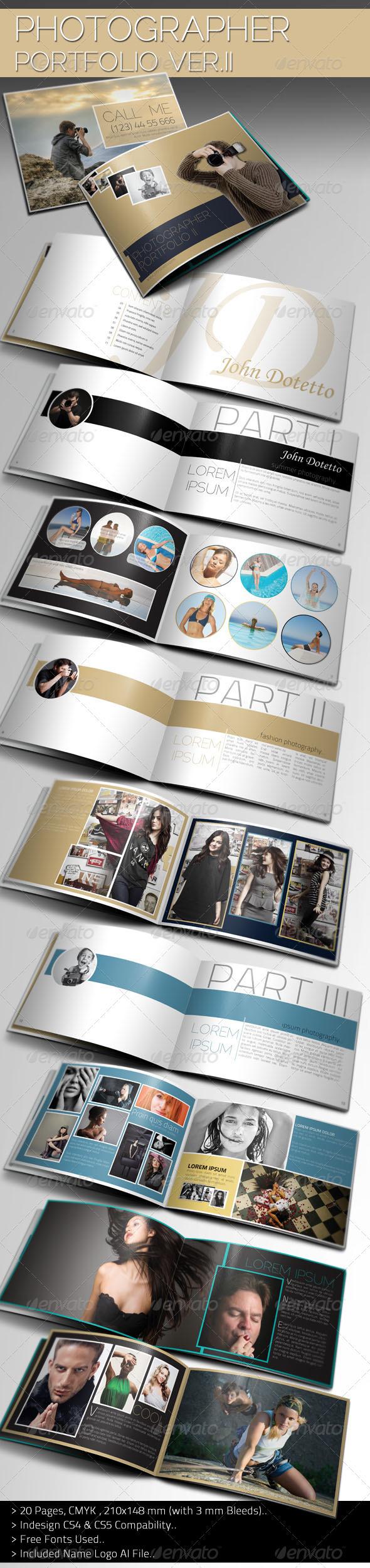 GraphicRiver Photographer Portfolio Brochure Template II 2327493