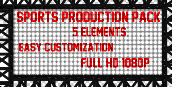 After Effects Project - VideoHive Sports Production Pack 2327551