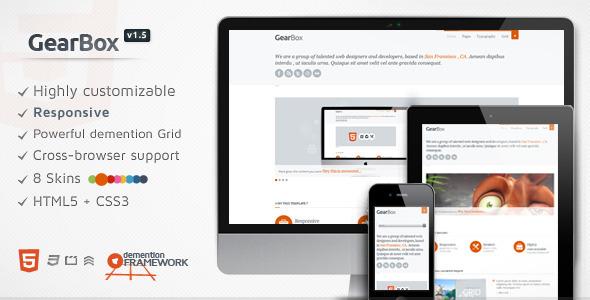 ThemeForest GearBox Modern Responsive Adaptable Framework 2091187
