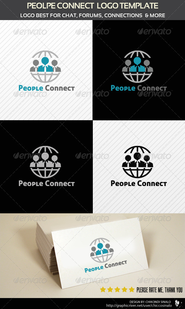 People Connect Logo Template - Humans Logo Templates