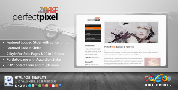 PerfectPixel Business & Portfolio Template