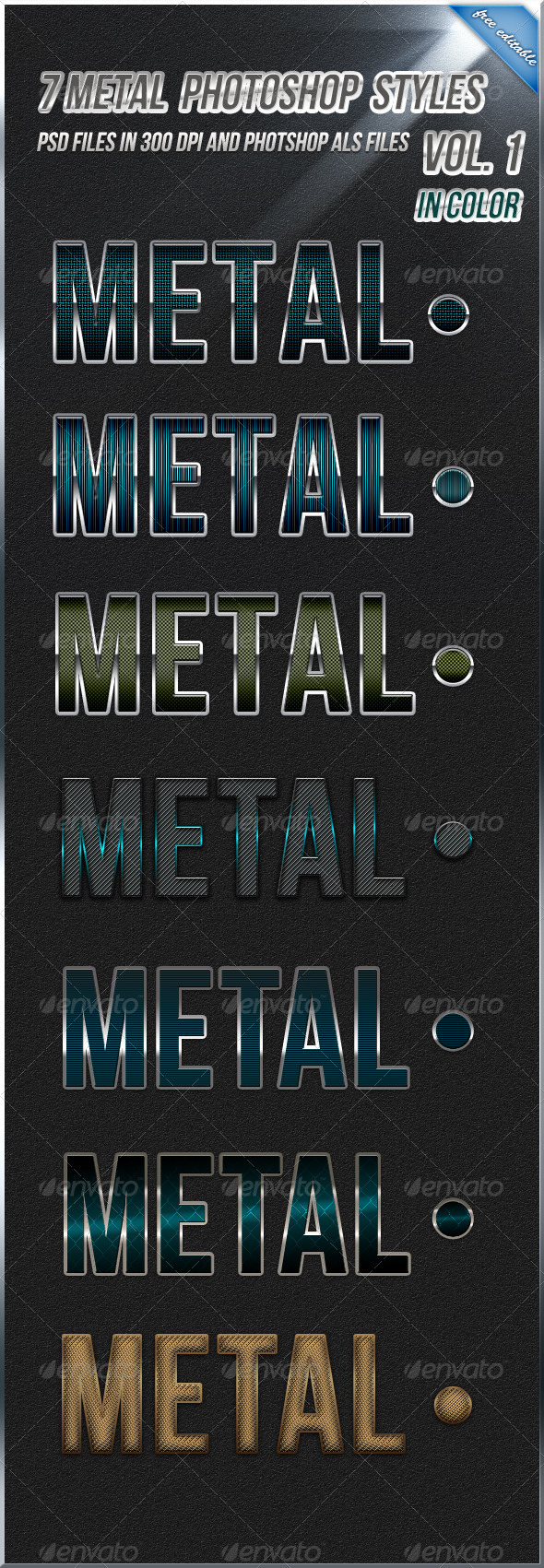 GraphicRiver 7 Metal Styles in Color 263642