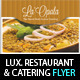 Luxury Restaurant & Catering Flyer PSD Template - GraphicRiver Item for Sale