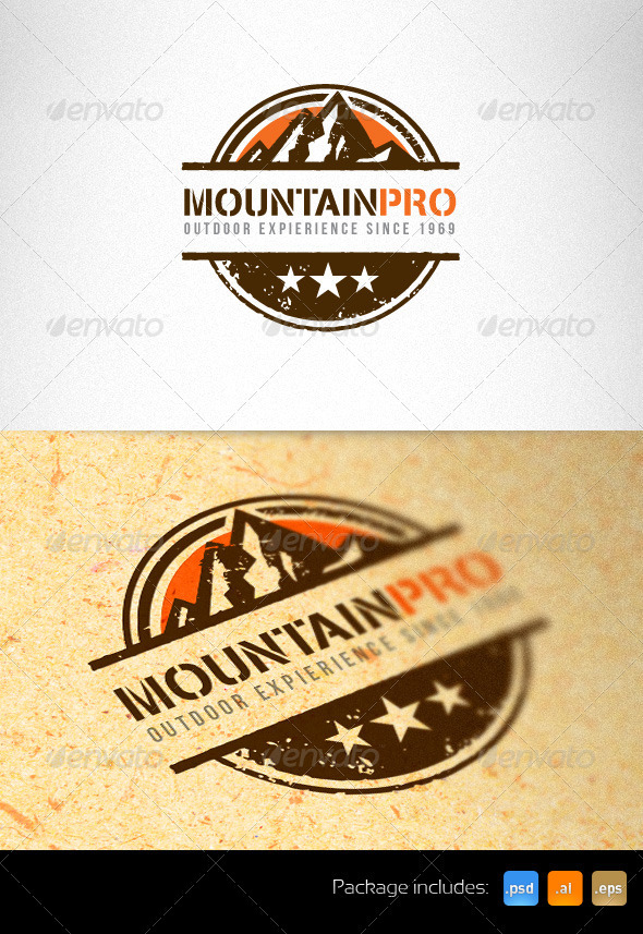 Mountain Pro Outdoor Creative Logo Template