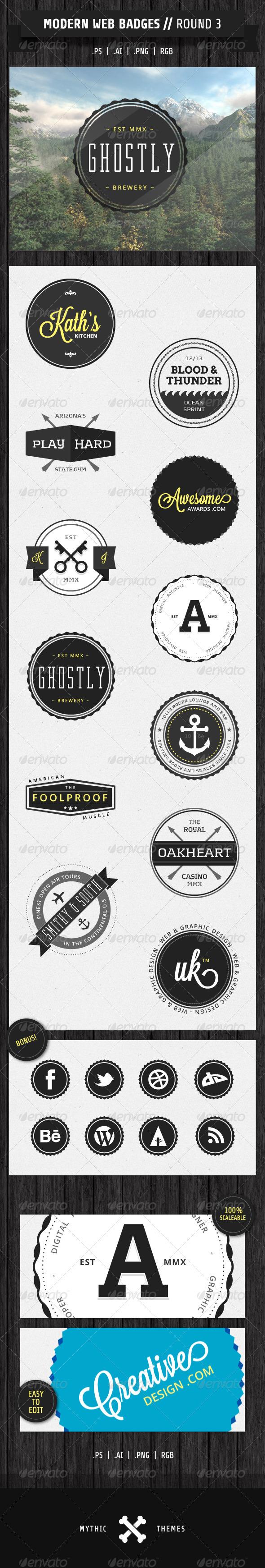 GraphicRiver Modern Web Badges Round 3 1902949