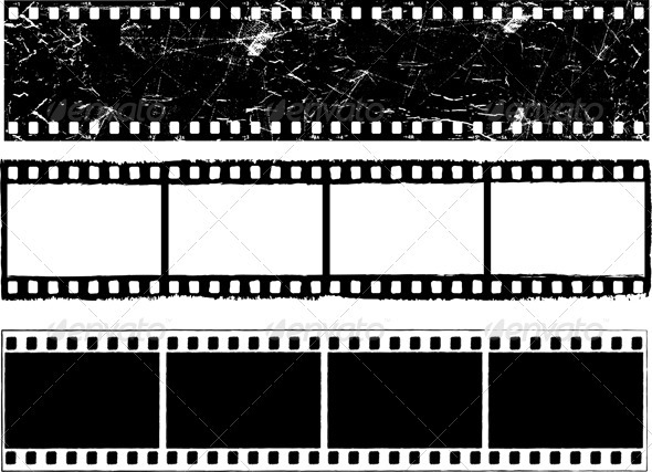 Grunge Film Strips - Backgrounds Decorative