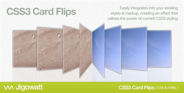 CodeCanyon CSS3 Card Flips 2330342
