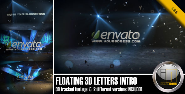 After Effects Project - VideoHive Floating 3D Letters Intro 2330354