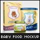 Baby Food Packaging Design Mockup