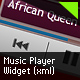 Music Player Widget (XML) - ActiveDen Item for Sale
